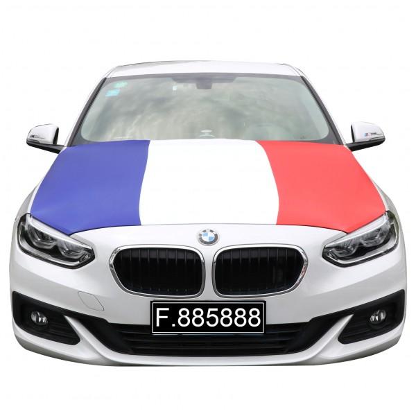 """EM Fußball """"Frankreich"""" Motorhauben Überzieher Auto Flagge"""
