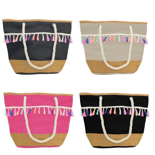 "Sale: 10 Beach bags ""Anchor and Bast with Tassels"""