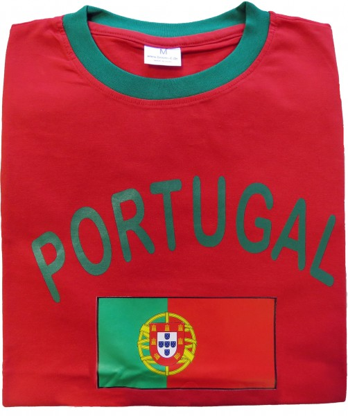"Fan-Shirt ""Portugal"" Unisex Fußball WM EM Herren T-Shirt"