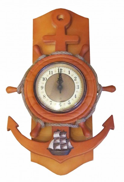 Sailor's Clock Wheel Coast Decoration Anchor