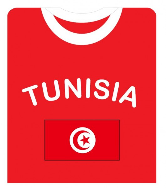"Fan-Shirt ""Tunisia"" Unisex Football Worldcup T-Shirt Men"