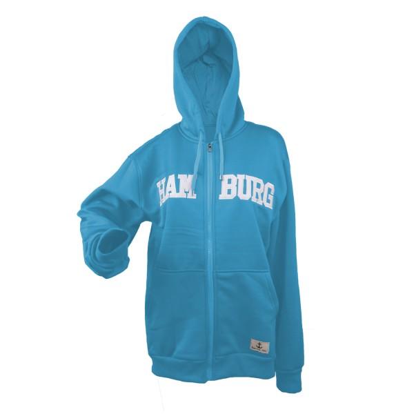 "Sweat Jacket ""Hamburg"" Women Logo Sweater Sky blue"