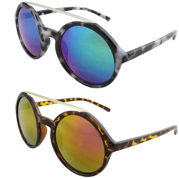Aktionssortiment: 12 Sonnenbrillen Verspiegelt Leo Muster Sommer Damen