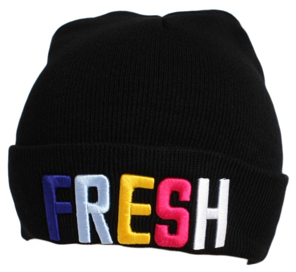 """Statement Mütze """"Fresh"""" Beanie Strick Uni Unisex"""
