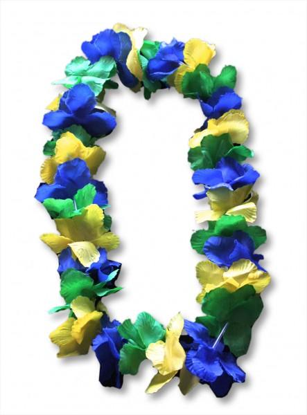 """5er SET """"Hawaiikette Sehr Groß"""" Blumenkette Party Fan WM Blüten"""