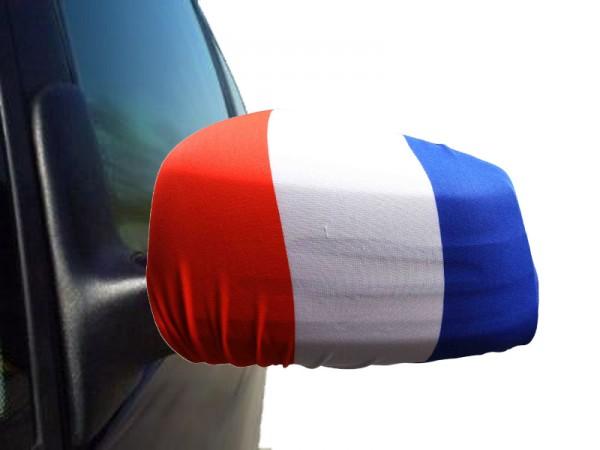 "Auto Außenspiegel Fahne Set ""Frankreich"" France Bikini Flagge EM WM"