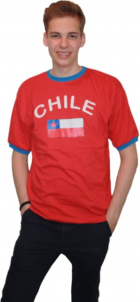 "Fan-Shirt ""Chile"" Unisex Fußball WM EM Herren T-Shirt"