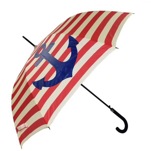 "Stockschirm ""Maritim"" Anker Streifen Regenschirm Schutz"