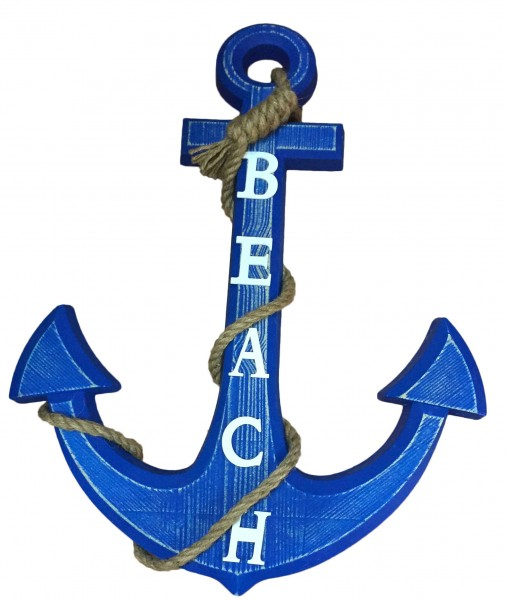 "Living Accessory ""Anchor"" Wall Decoration Wood"