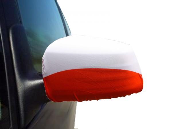 "Auto Außenspiegel Fahne Set ""Polen"" Poland Polska Bikini Flagge EM WM"
