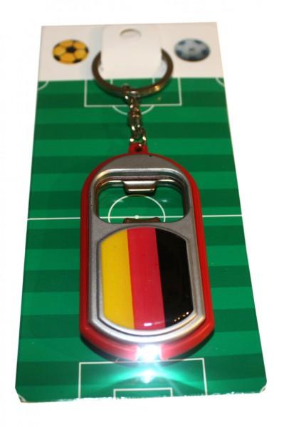 Flaschenöffner LED Schlüsselanhänger Deutschland Fußball Fan WM
