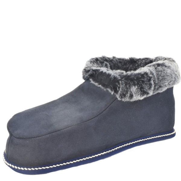 "Indoor Slipper ""Zimtstern"" Real Sheep Skin Genuine Leather Lamb Fur"