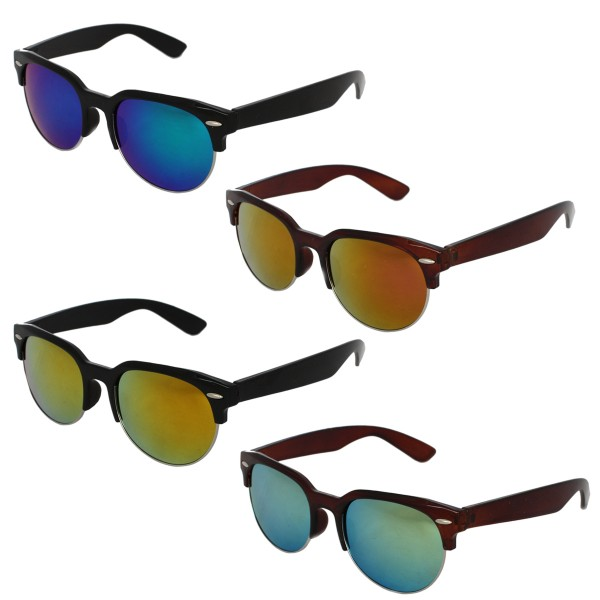 Sale: 12 Sun Glasses Mirrored Classic Summer Eyewear