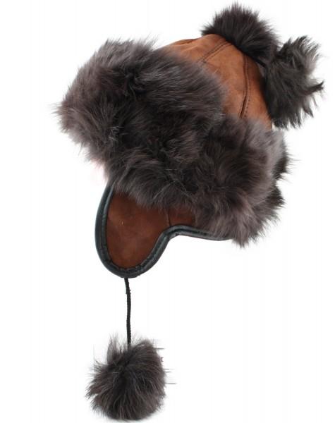 Kids Women Cap Winter Lambfur Hat