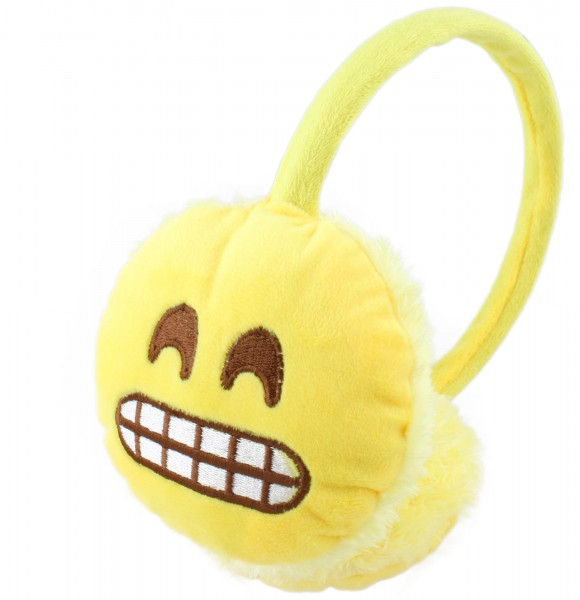 "Ohrenwärmer ""Smiley"" Samt Gesichter Unisex Handy Winter"