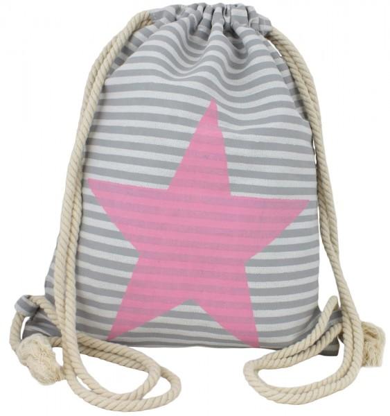 """Backpack """"Finn"""" Star, Stripes Gymbag Bag"""