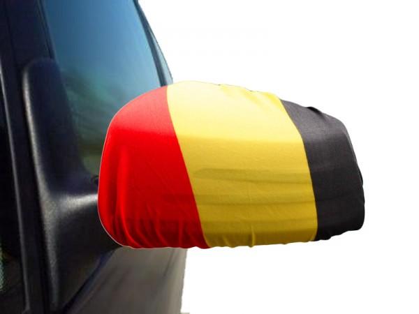 "Auto Außenspiegel Fahne Set ""Belgien"" Belgium Bikini Flagge EM WM"