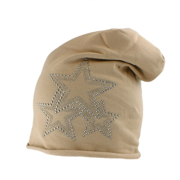 "Fleece Beanie ""3-Stern"" Rivets Winter Premium"