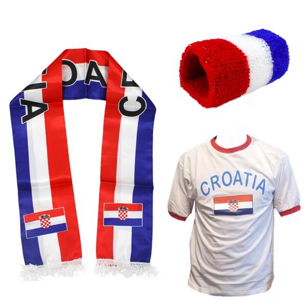 "Fan Package ""Croatia"" Worldcup Football Scarf Shirt Sweatband SET-7"