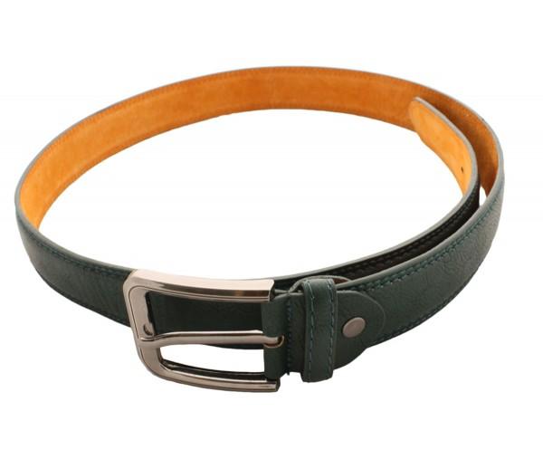 "Leather Belt ""Gents Classic"" Uni Color Dark"