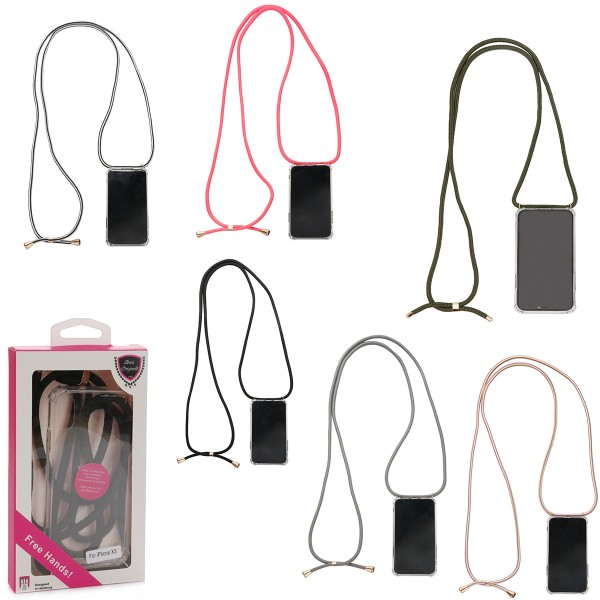 "Assortment: 5 pcs Mobile Phone Chains ""Fits Samsung Galaxy S9Plus"" Smartphone Cover"
