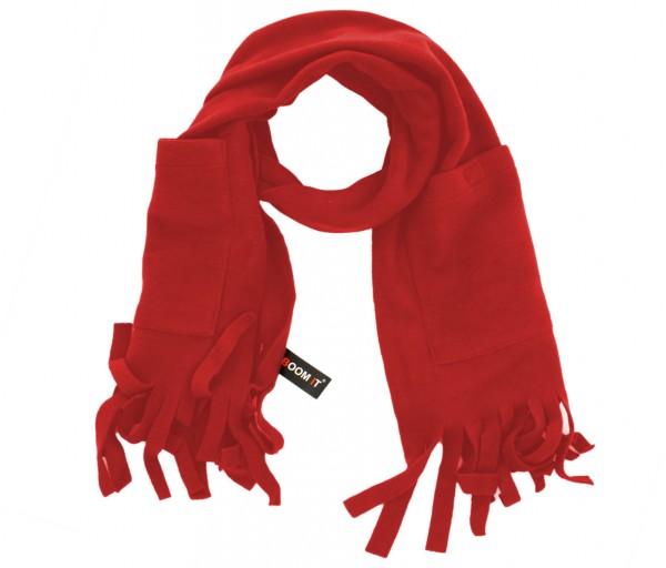 Schal Fleece Taschen Fransen Winter