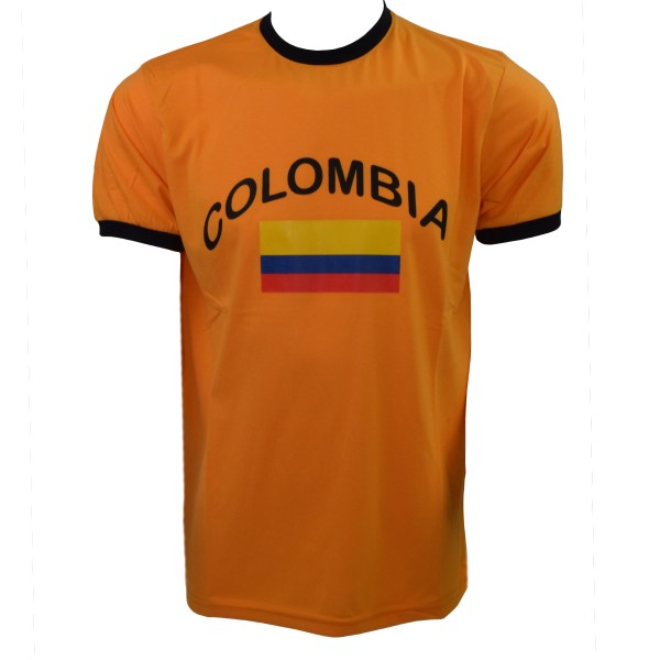"Fan-Shirt ""Colombia"" Unisex Football Worldcup T-Shirt Men"