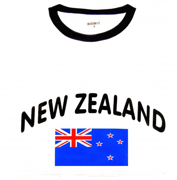 "Fan-Shirt ""New Zealand"" Unisex Fußball WM EM Herren T-Shirt"