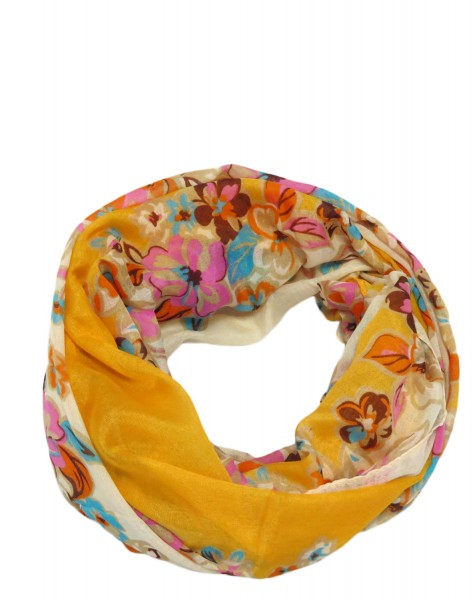 "Scarf Loop ""Flower Vase"" Round Shawl Summer"