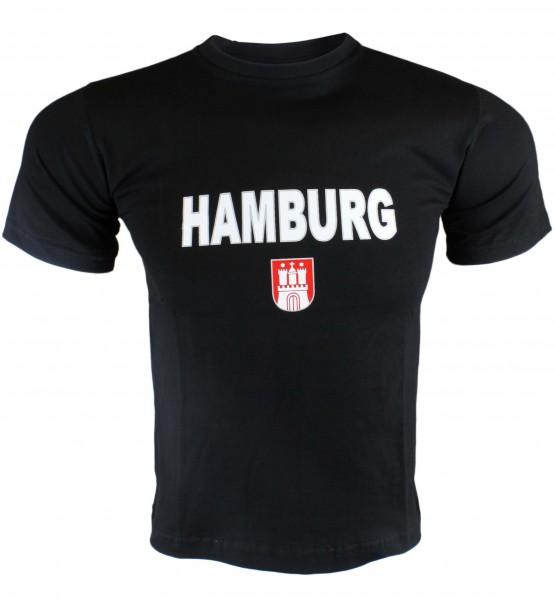 """T-Shirt Herren """"Hamburg Classic"""" Wappen Baumwolle"""