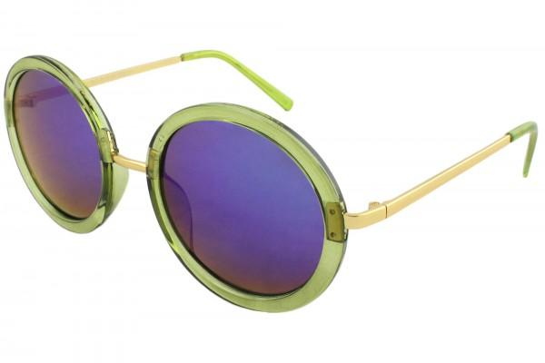Sonnenbrille Verspiegelt Rund Damen Trend Sommer