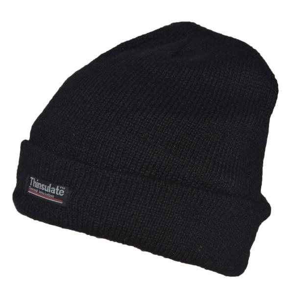 """Knitted hat """"Fleece"""" Black Fleece Warm"""