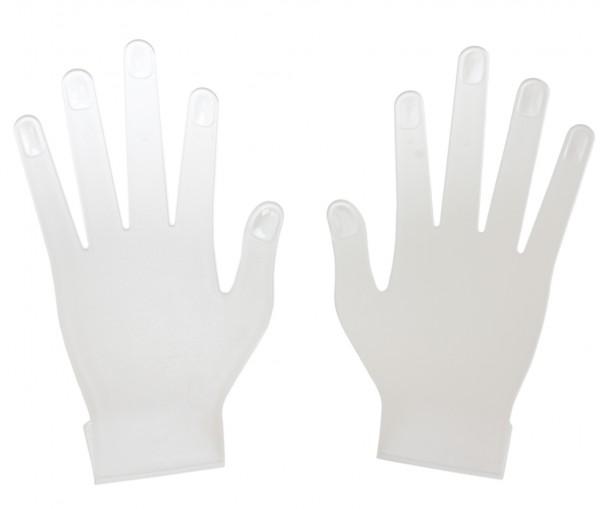 Set Hand Display Pair Plastic Flat Gloves