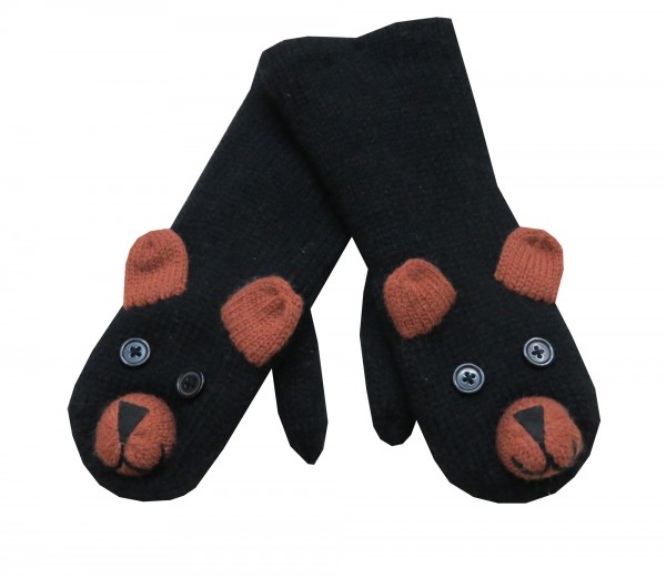 "Mitten ""Zoo"" Gloves Knitted Animals Fleece"