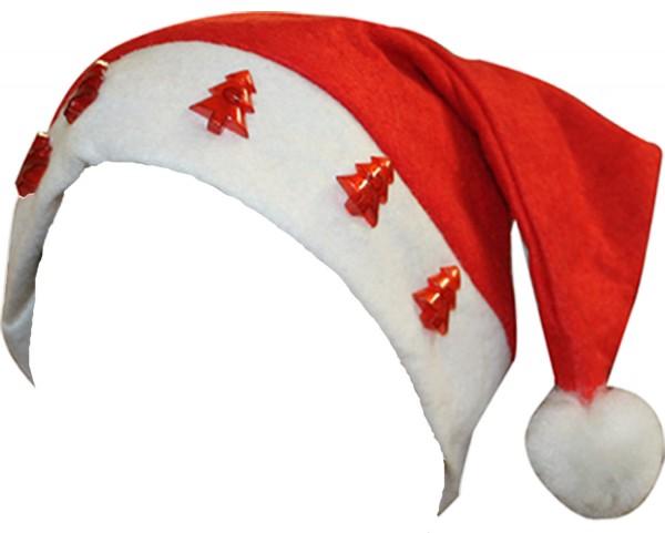 """Weihnachtsmütze """"Tannenbaum"""" Beleuchtung Blinklicht Cap"""