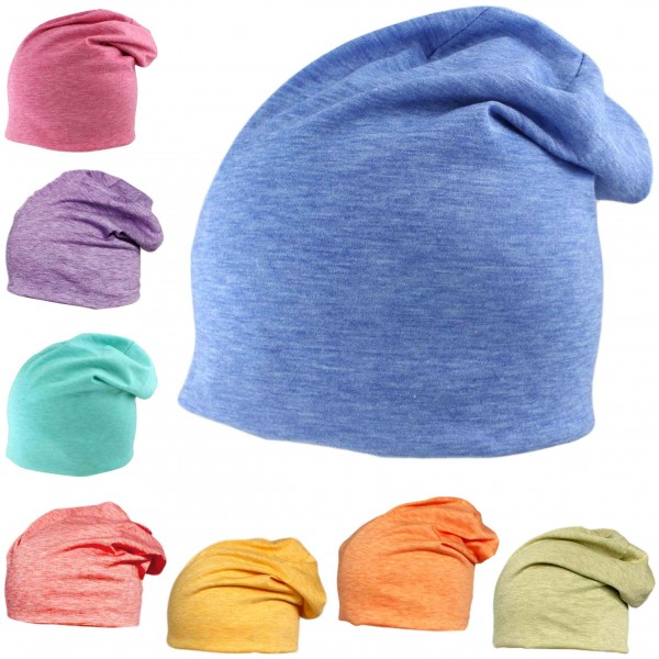 "Sale: 50 Beanies Slouch ""Pastell"" Unisex Mottled Jersey"