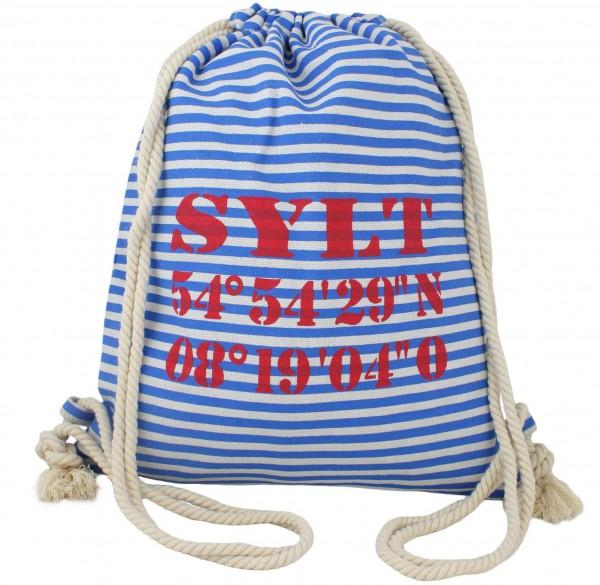 """City Rucksack """"Sylt"""" Tasche Bag Gymbag Maritim"""