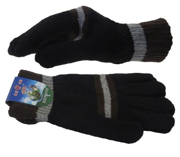 Assortment 12 Pairs Knitted Gloves Stripes Winter Unisex