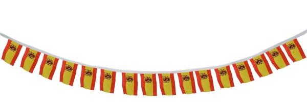 """Fahnenkette """"Spanien"""" Fußball EM Girlande 16 Fähnchen 4,5m Deko"""