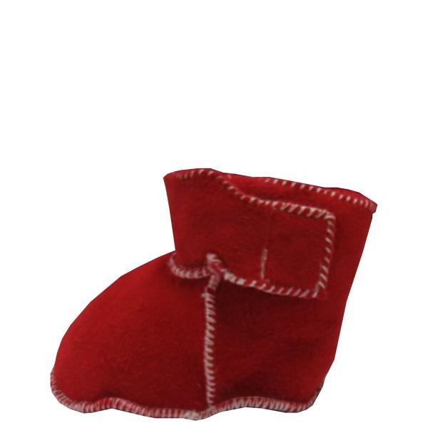 "Baby Indoor Slipper ""Dino"" Real Sheep Skin Leather Lamb Fur Velcro"