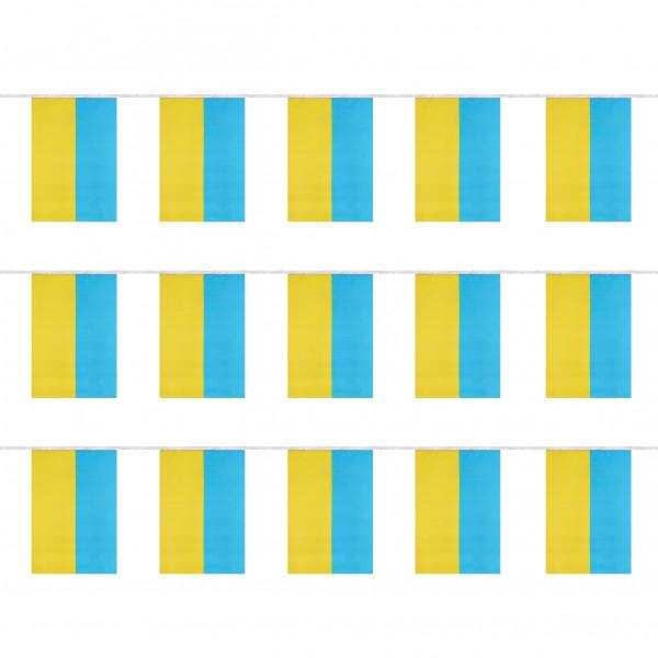 """Fahnenkette """"Ukraine"""" Fußball EM Girlande 16 Fähnchen 4,5m Deko"""
