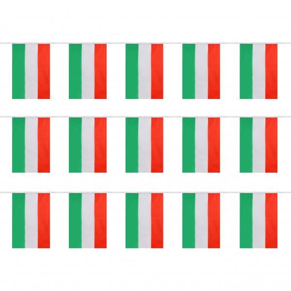 """Fahnenkette """"Ungarn"""" Fußball EM Girlande 16 Fähnchen 4,5m Deko"""
