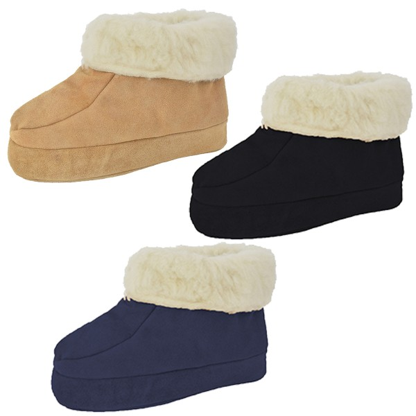 "Assortment: 10 pairs Indoor Slipper ""Snowflake"" Real Leather Wool Lining Cozy Soft"