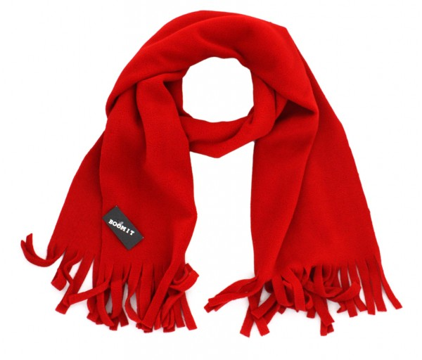 Scarf Fleece Winter Fringes Unicolor