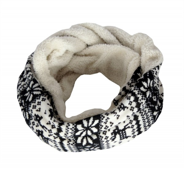 "Loop ""Norway"" Scarf Teddy Fur Polyester Winter"