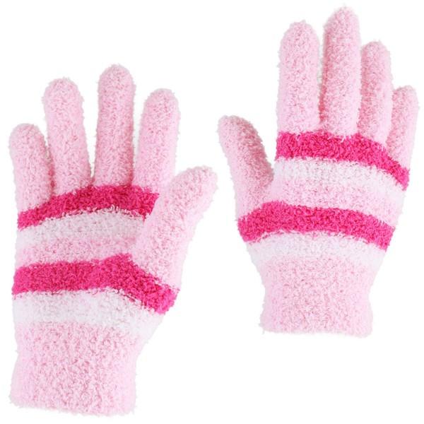 12er SET Kinder Erwachsene Strickhandschuhe Kuschel Muster Bunt
