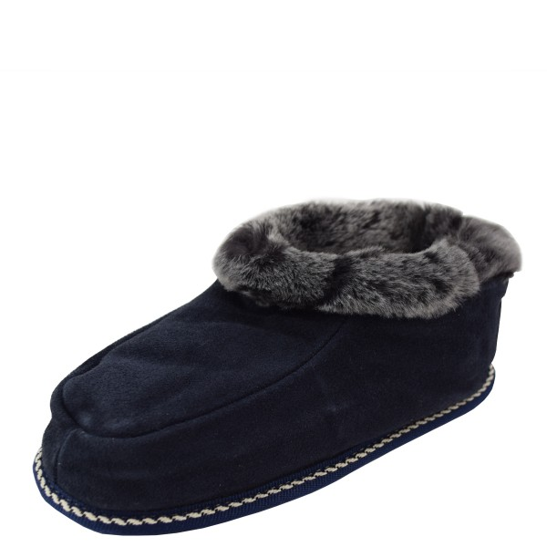 "Kids Indoor Slipper ""Zimtstern"" Real Sheep Skin Genuine Leather Lamb Fur"