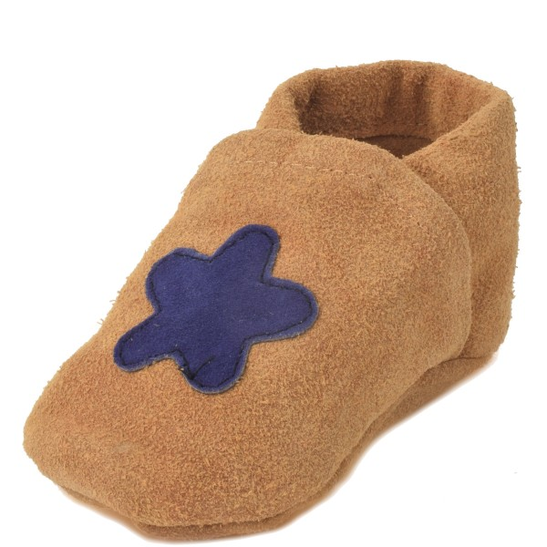 "Baby Indoor Slipper ""Diamond"" Real Leather Flower"
