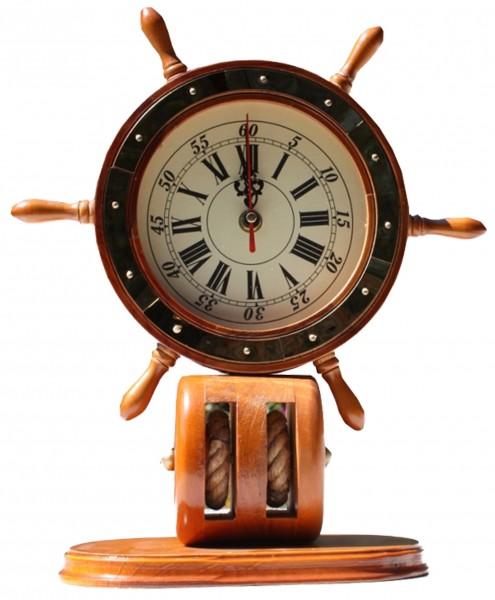 Seemannsuhr Küste Steurrad Uhr Schiffsuhr