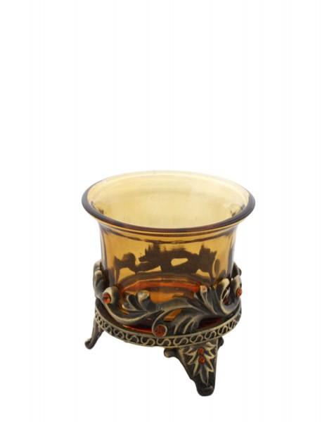 """2 Pieces Tea Candle """"Lichtblick"""" Decoration Present"""